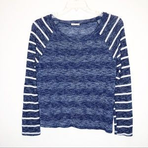 MARU Relaxed Striped Knit Sheer Sweater